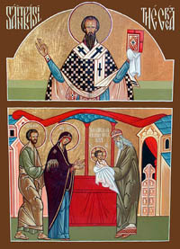 icon of St Basil the Great and the Circumcision of the Lord